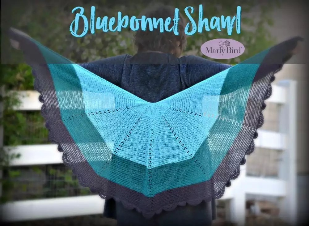 Bluebonnet Crochet Lace Shawl by Marly Bird