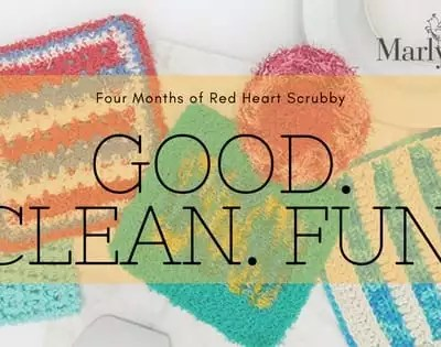 Get Ready for Some Good Clean Fun with Red Heart Scrubby Yarn