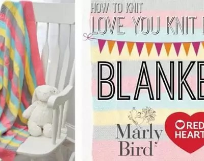 Knit Video Tutorial-How to Knit the First Love You Baby Blanket