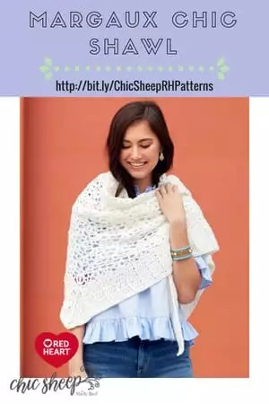 Margaux Chic Shawl-FREE Crochet Pattern with Chic Sheep by Marly Bird