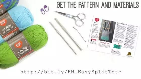 Easy Slip Crochet Tote Materials