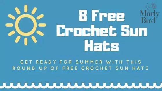 8 FREE Crochet Sun Hats