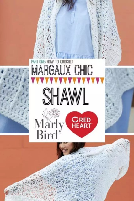 Free Pattern and Video Tutorial for the Margaux Chic Shawl by Rebecca Velasquez