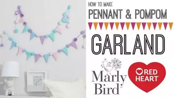 Video Tutorial with Marly Bird-How to make the Pennant & Pompom Garland