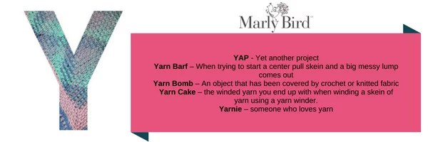 Crochet Slang Terms-Y