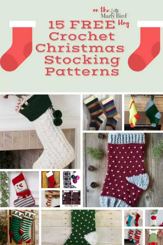 Crochet Christmas Stocking.15 Free Crochet Christmas Stockings Patterns Marly Bird