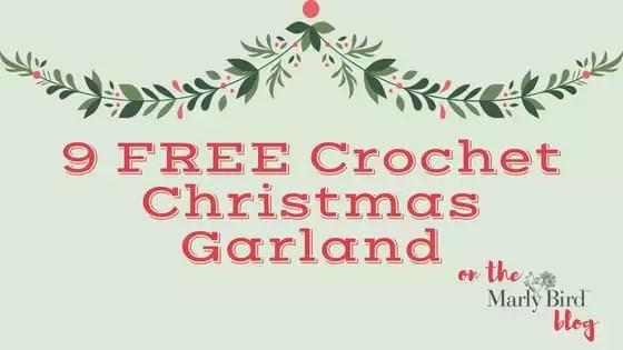 9 FREE Crochet Christmas Garland patterns