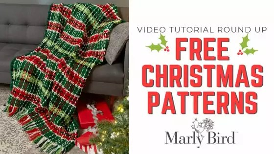 FREE Christmas Knit and Crochet Patterns with Video Tutorials