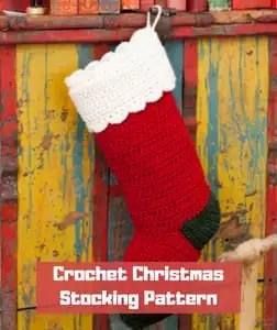 15 Free Crochet Christmas Stockings Patterns Marly Bird