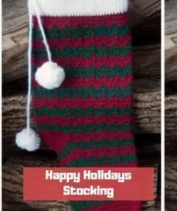 Happy Holidays Stocking by Moogly