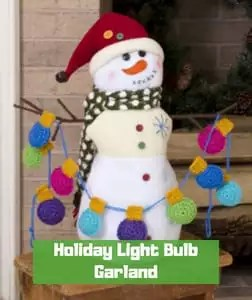Holiday Light Bulb Garland by Kristen Stoltzfus