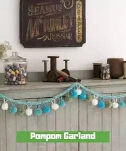 Pompom Garland by Becky Bishop