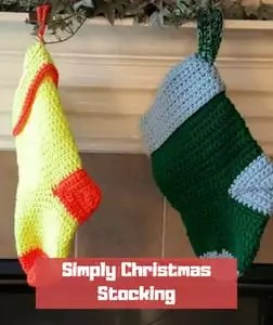 Simply Christmas Stocking by American Crochet