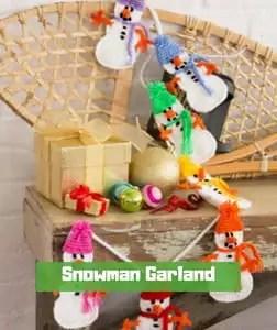 Snowman Garland by Rebecca J Venton