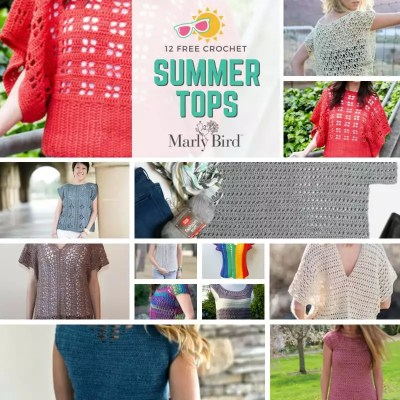 12 FREE Crochet Summer Tops