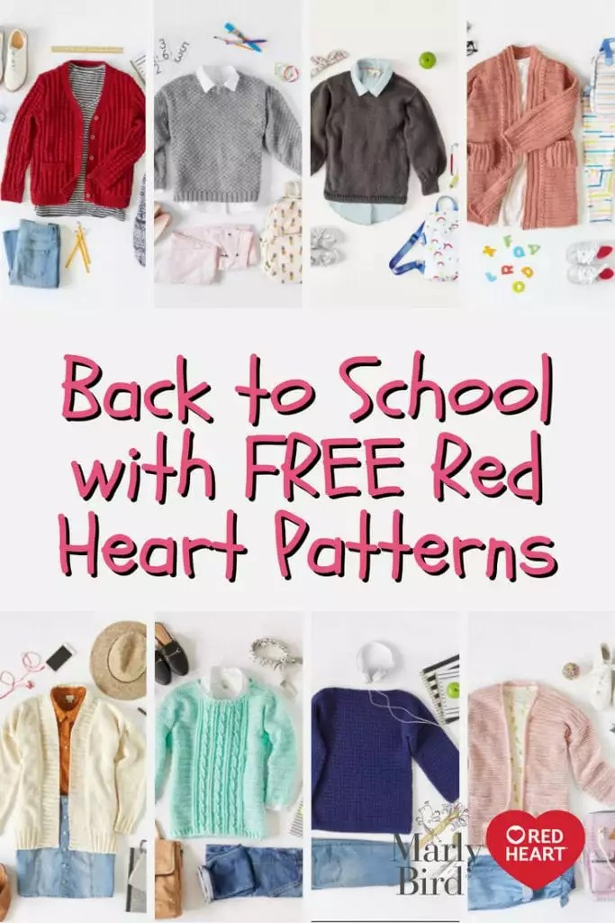 Back to School with FREE Red Heart Patterns
