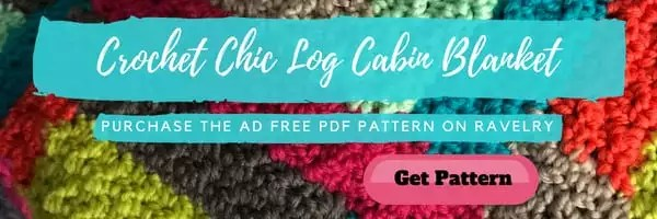 Ad Free PDF of Crochet Chic Log Cab Blanket designed by Marly Bird