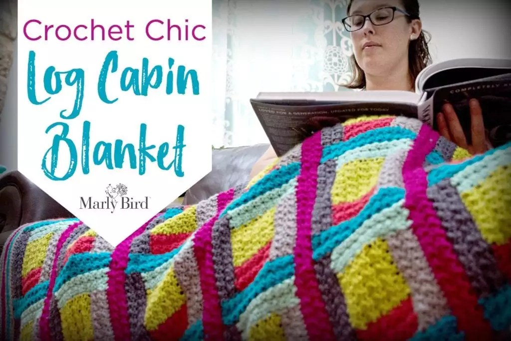 The making of the Crochet Chic Log Cabin Blanket