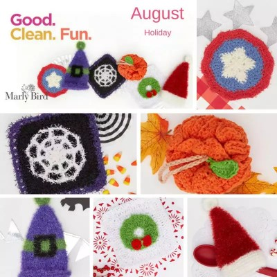 Red Heart Scrubby Patterns for the Holidays