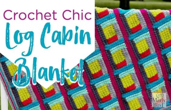 Free Crochet Pattern Crochet Chic Log Cabin Blanket by Marly Bird