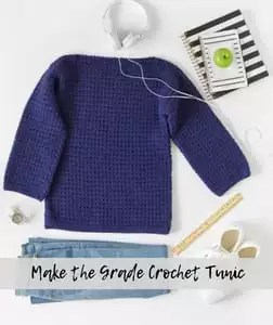 Make the Grade Tunic-FREE Red Heart Pattern