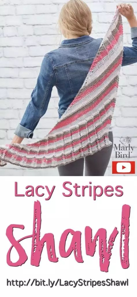 Video Tutorial-How to Knit the Lacy Stripes Shawl