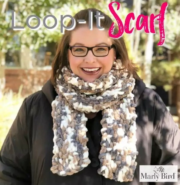 Loop It Puffy Seed Stitch Scarf Marly Bird