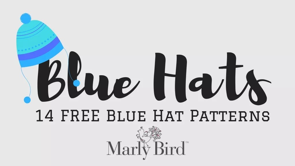 14 FREE Knit and Crochet Blue Hat Patterns