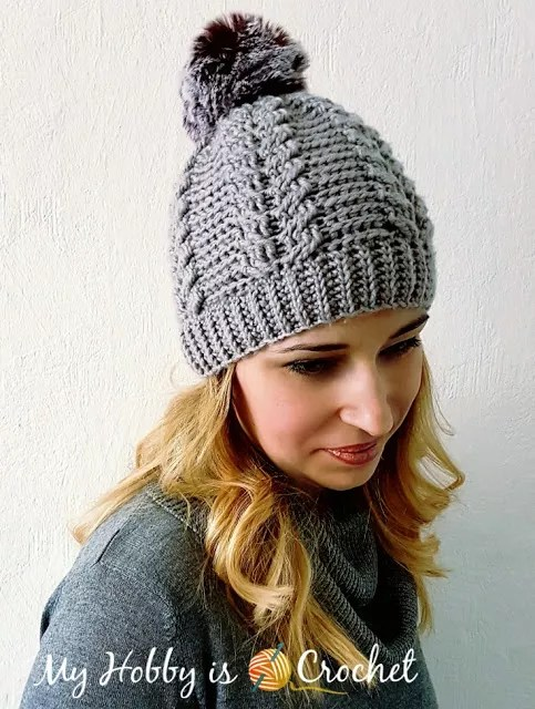 Cable Beanie by My Hobby is Crochet