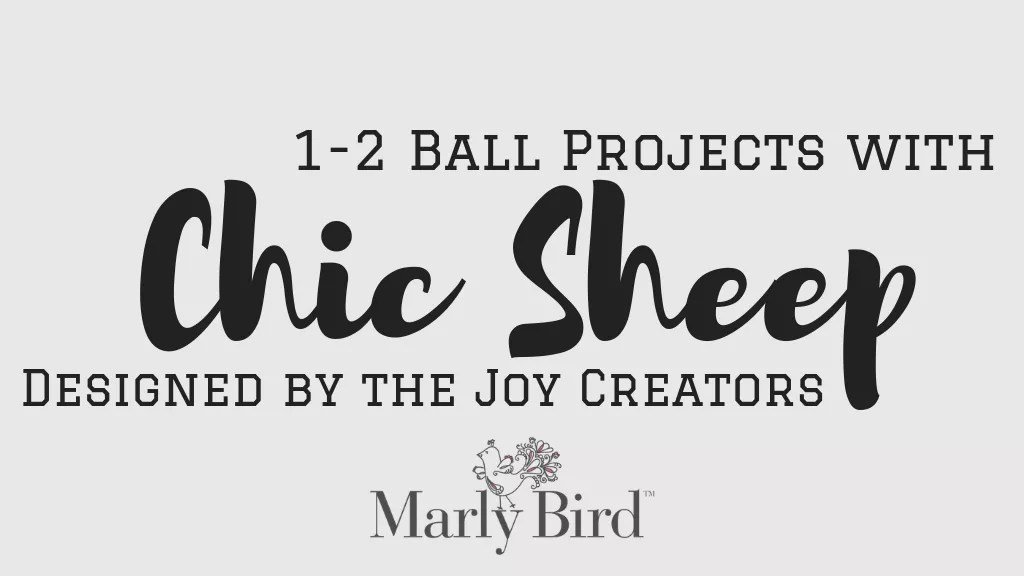 FREE Chic Sheep by Marly Bird™ Patterns using 1 or 2 balls