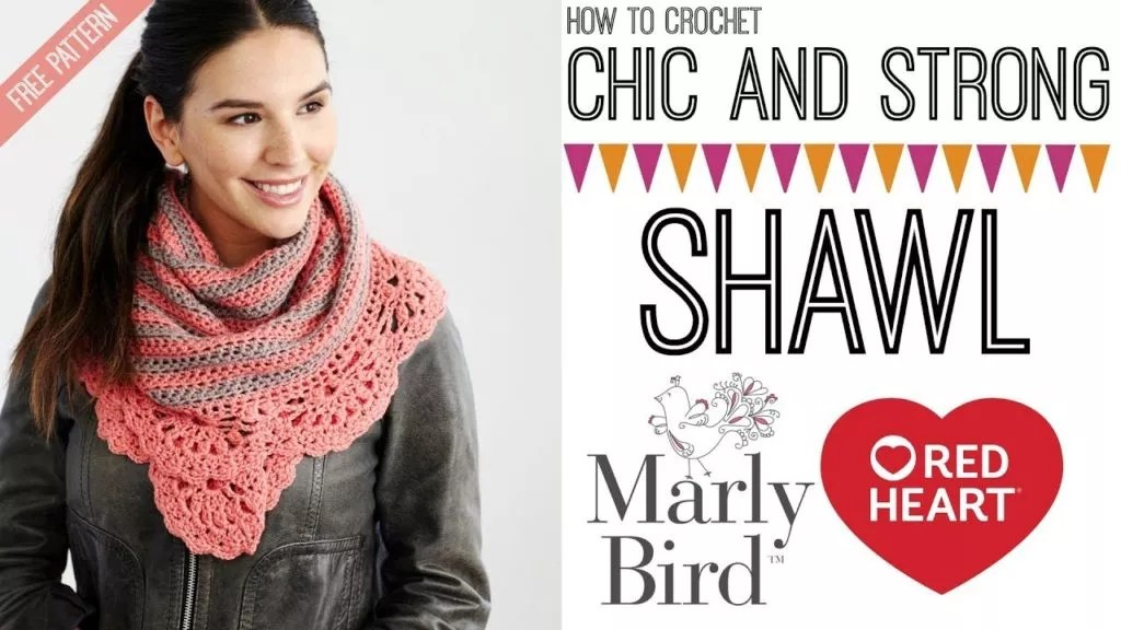 Video Tutorial-How to crochet the Chic and Strong Shawl