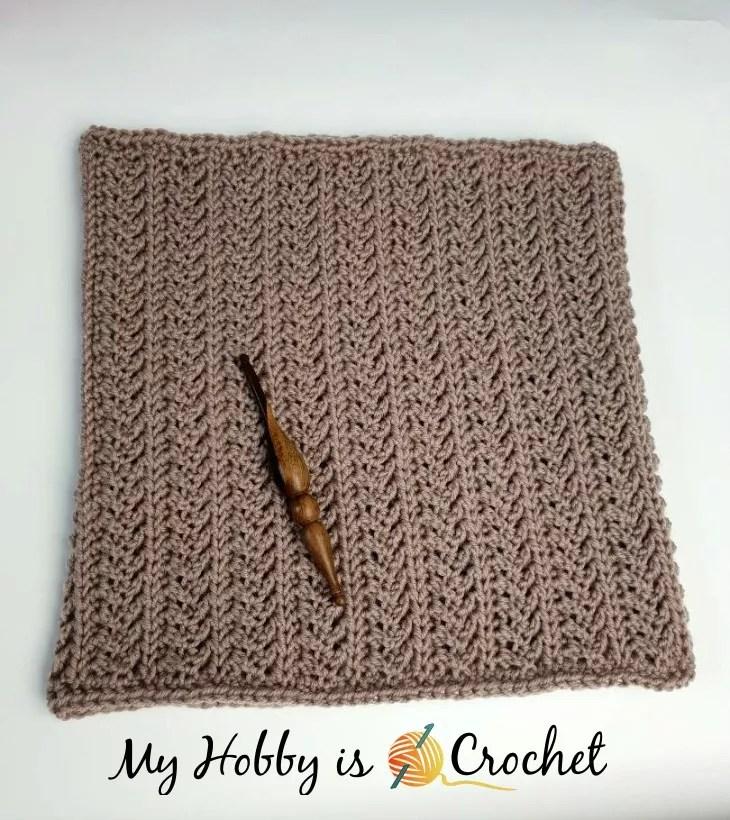 Chic Aran Cowl by My Hobby is Crochet