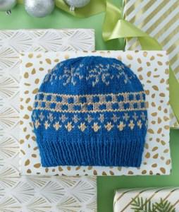 FREE Blue Hats Pattern: Favorite Fair Isle Knit Hat