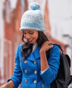 14 FREE Blue Hats Patterns-Fantastic Pommed Hat