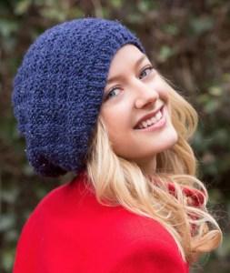 14 FREE Blue Hats Patterns-Basketweave Sparkle Hat