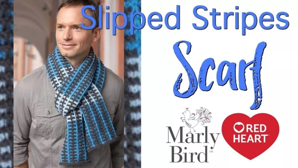 Video Tutorial with Marly Bird-How to Knit the Slipped Stripes Scarf