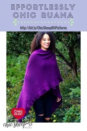 Effortlessly Chic Ruana-FREE Chic Sheep by Marly Bird pattern™