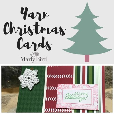 Making Christmas Cards with Yarn