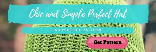 Chic and Simple Perfect Hat-FREE Crochet Hat Pattern Designed by Marly Bird