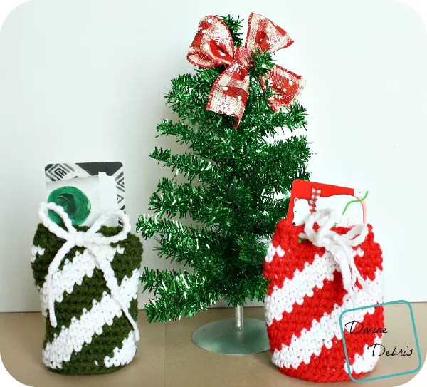 Crochet Gift Card Drawstring Bag designed by Divine Debris