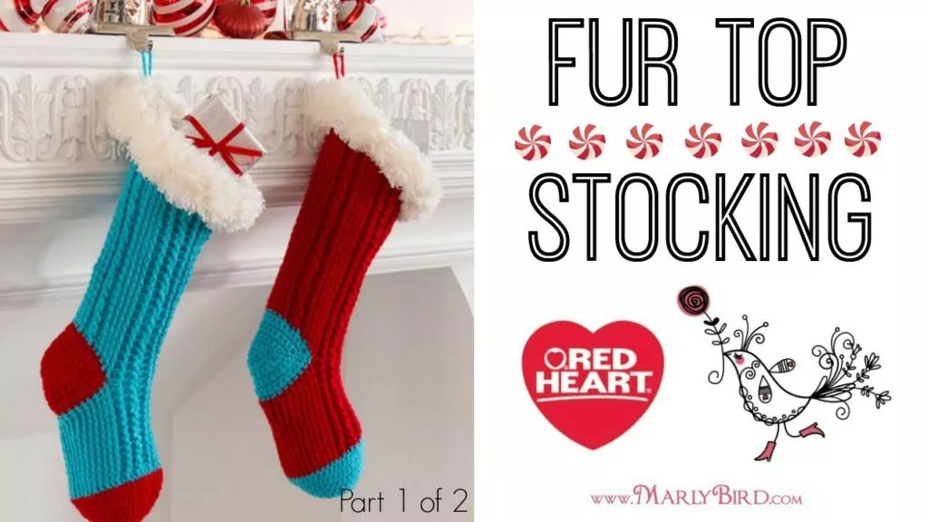 Making Christmas Stocking.Video Tutorial Making A Crochet Christmas Stocking Marly Bird