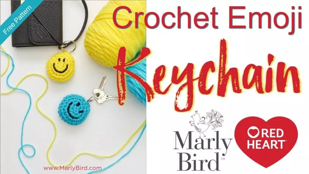 DIY Crochet Emoji Keychain with Video Tutorial