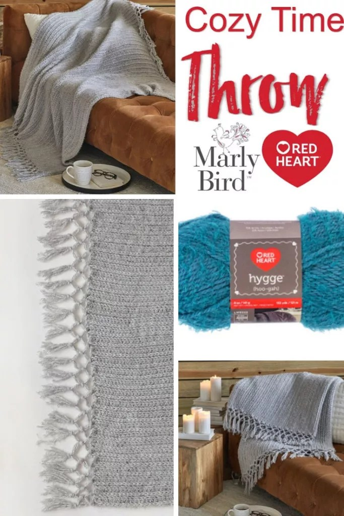 FREE Beginner Crochet Throw pattern-Cozy Time Throw
