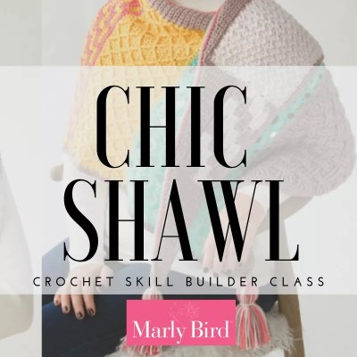 Crochet Skill Builder-Chic Shawl by Marly Bird