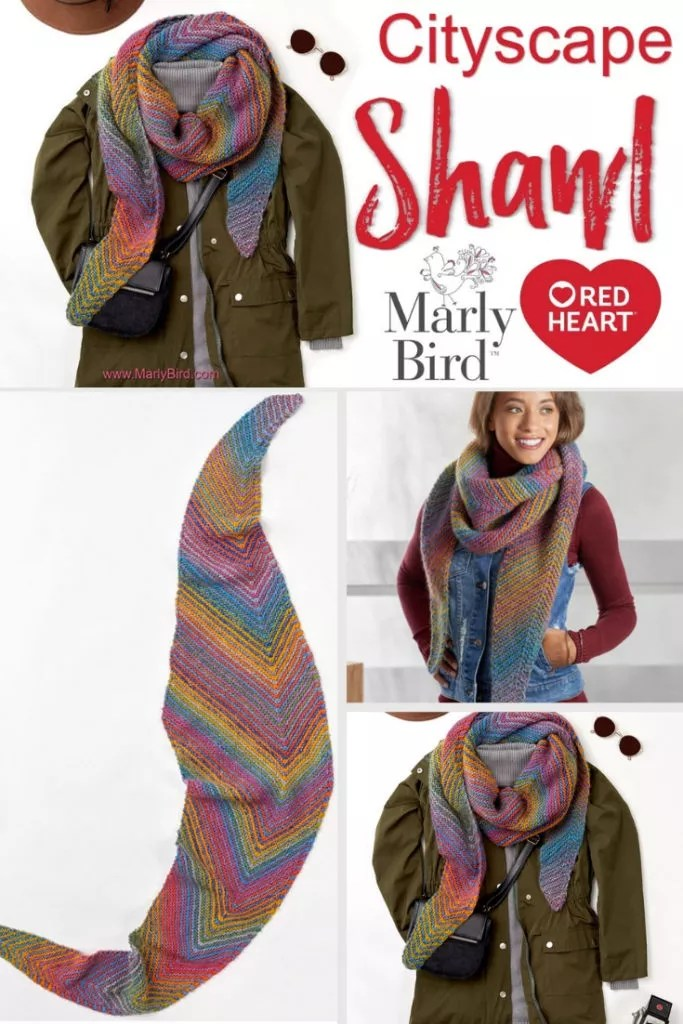 FREE Knit Beginner Shawl and video tutorial