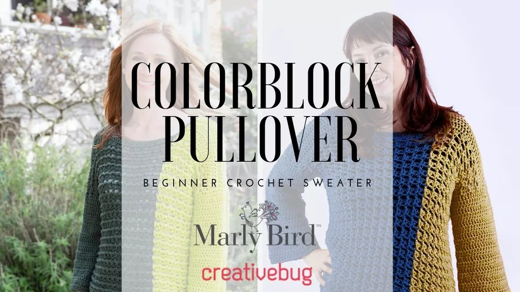 Colorblock Crochet Sweater-Beginner Crochet Sweater-Crochet Class