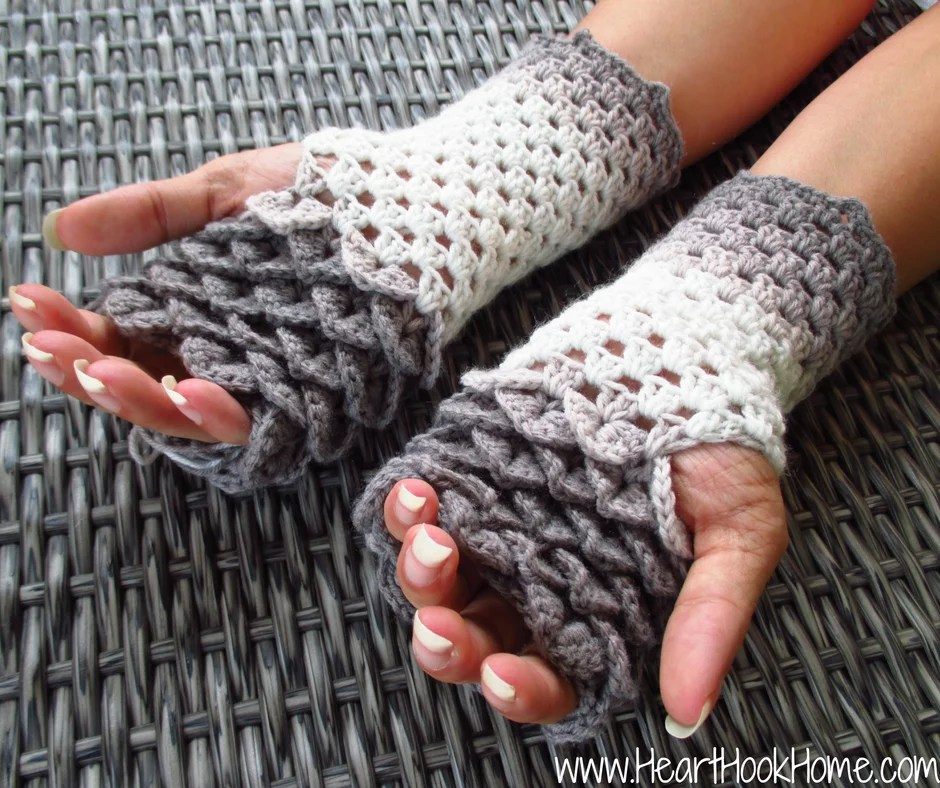 Dragon Tears Fingerless Gloves by Heart Hook Home-Crochet Fingerless Gloves