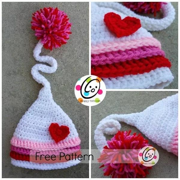 FREE Crochet Valentine Hat