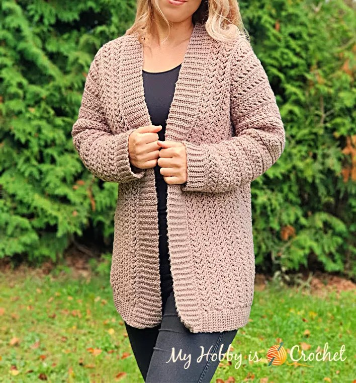 My Hobby is Crochet-Chic Aran Cardigan-Chic Sheep Yarn-Chic Sheep FREE Patterns
