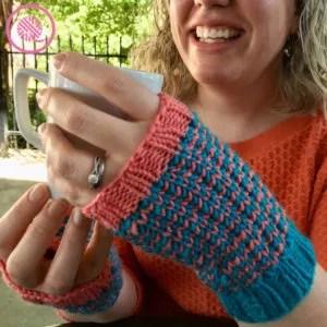 Good Knit Kisses-Chic Fingerless Mitts-Chic Sheep Yarn-Chic Sheep FREE Patterns
